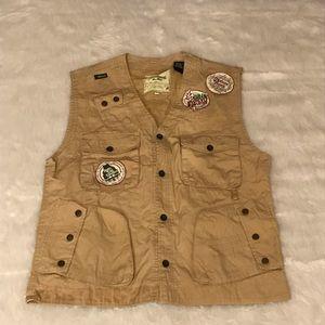 Akademiks Men's Green Product Utility Vest